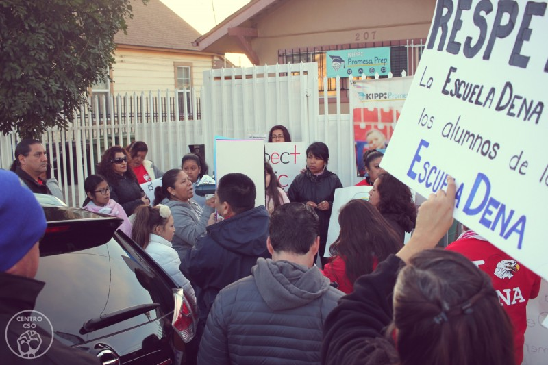 La Parents Students Teachers Hold Spirited Protest Against Kipp
