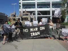 Anti war protesters in Salt Lake City