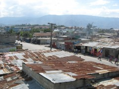 Roof tops of Site Soley, the poorest neighborhood in Port Au Prince