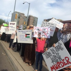 Tucson protest of Israel's war of terror against the Palestinian people