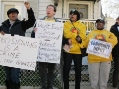 Protest in Orange, Nj stops eviction