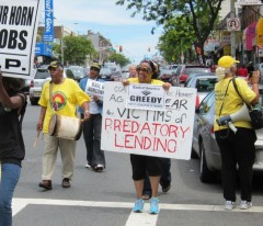 Irvington, NJ march against foreclosures