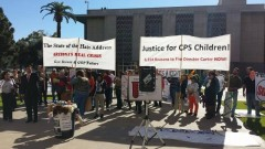 Protest of Gov. Brewer's State of the State address Jan. 13 in Phoenix