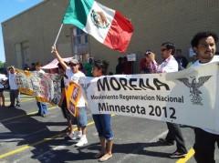 Protesta de MORENA en Minnesota, 7 de julio 2012