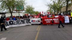 Marching May 1 in Minneapolis