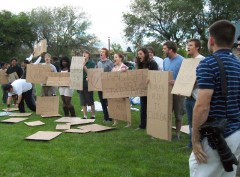 Taylorsville Park protest against right-wing Patrick Henry Caucus