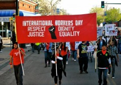 International Workers Day march in Minneapolis