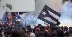 Police tear gas May Day protest in Puerto Rico