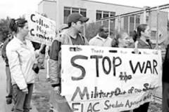 "Banner: ""Stop the War"""