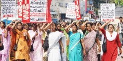 Women in Kerala, India protest