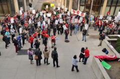Graduate Employee Organization (GEO) rally at University of Illinois at Chicago