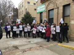 Chicago charter school strikers.