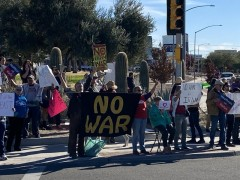 Tucson, AZ protest against war with Iran.