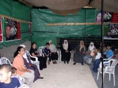 Hunger Strike Solidarity Tent in Abu Dis