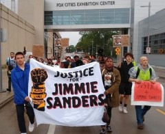 Appleton, WI march demands justice for Jimmie Sanders.