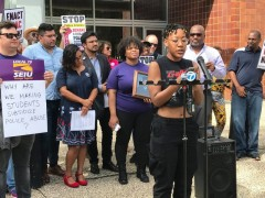 Ariel Atkins of Black Lives Matter speaks at press conference