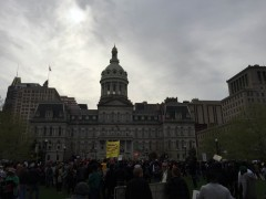 Huge protests in Baltimore demand justice for Freddie Gray.