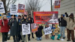 Participants in Baltimore march against war and racism.