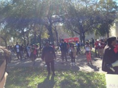 Houston protest demands justice for Sandra Bland.