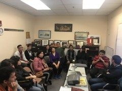Labor leaders from Philippines speak at office of Chinese Progressive Assocation