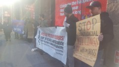 New York rally in solidarity with struggle in Philippines.