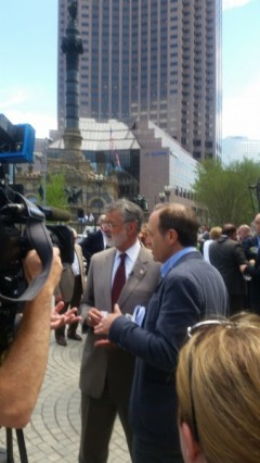 Call Cleveland Mayor Jackson (center) July 6 and tell him to grant permits