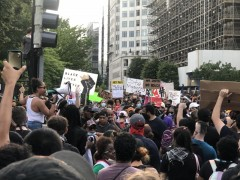 Tens of thousands take to the streets in Washington DC