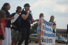 Anh Pham speaks at July 29, 2010 rally in St. Paul against SB1070