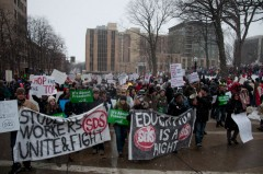 SDS in massive Madison march, February 26