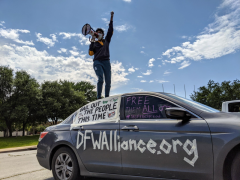 Dallas protest demands cancellation of rents and mortgages.