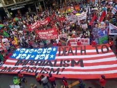 Militant protests slam Trump in Philippines.