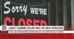 Largest economic decline since the Great Depression