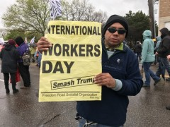 May Day march in Minneapolis.