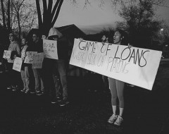 Students in St. Cloud protest student debt and the cost of tuition