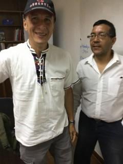 Dozthor Zurlent (left) with Venezuelan human rights lawyer.