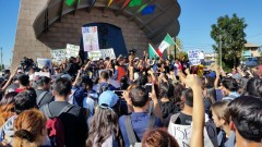 ELA high school students rally at historic Mariachi Plaza in Boyle Heights