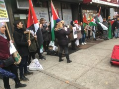 Emergency protest against Israeli attacks on Gaza.