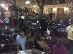 Jacksonville protesters stage die-in at downtown Hemming Plaza