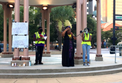 Vigil to honor the life of murdered Tallahassee activist Oluwatoyin Salau.