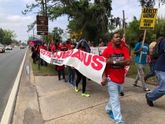 Florida protest demands justice for DJ Broadus.