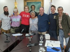 The Freedom Road Socialist Organization (FRSO) labor delegation with Tibisay Luc