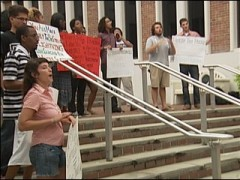 Florida protest against voter suppression.