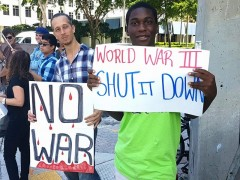 South Florida protest against a U.S. war on the Korean peninsula