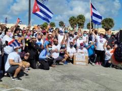 Florida caravan against U.S. blockade on Cuba.