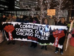 Chicago march against police crimes.