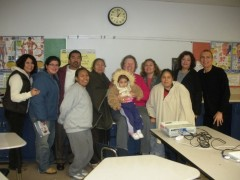 Mothers, teachers, Jackie Goldberg and Carlos Montes at GHS.