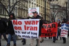 Protest in Grand Rapids, MI against a U.S. war on Iran.