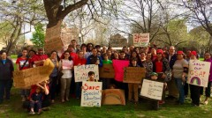 #LetSarahTeach say 200 supporters of Sarah Chambers, beloved facing termination.