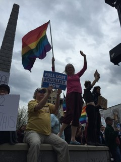 Asheville, NC protest against HB2