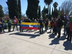 Protest in Tuscon, AZ against U.S. intervention in Venezuela.
